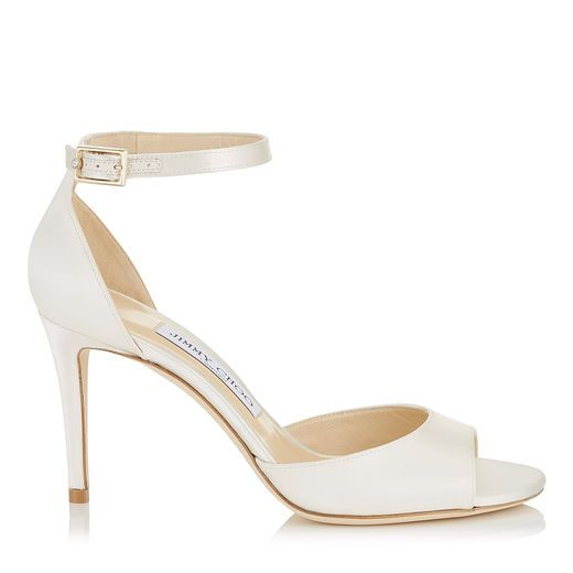 3ee7b2c81c39 JIMMY CHOO Annie 85 Ivory Satin Peep Toe Sandals.  jimmychoo  shoes ...