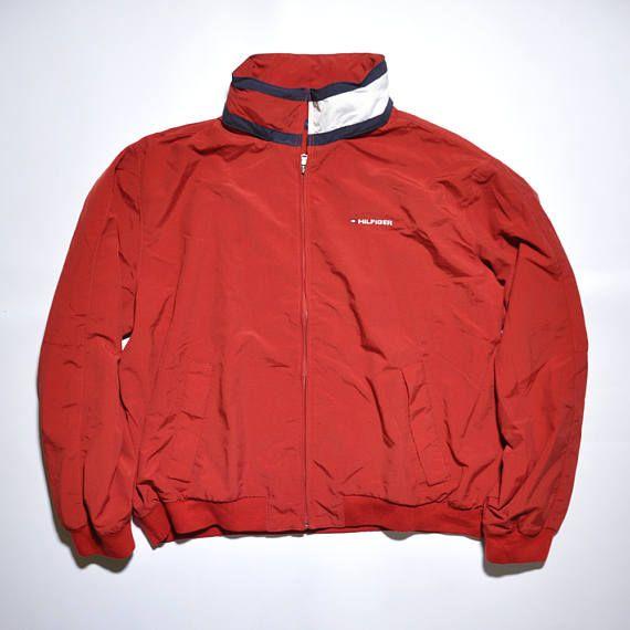 Vintage Tommy Hilfiger Flag Collar Sailing Jacket Outdoor