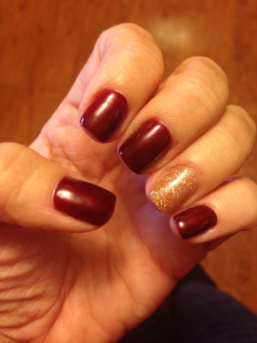 Wine And Gold Cavs Nails Hair And Nails Beauty