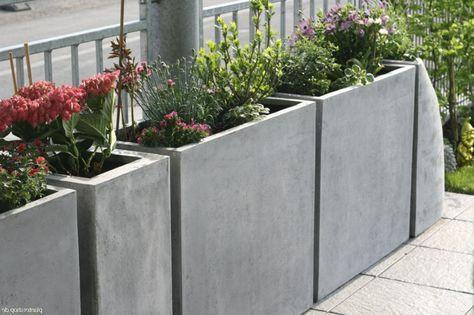 Pflanzkübel Raumteiler Trennelement aus Fiberglas  - hohlsteine fur gartenmauer