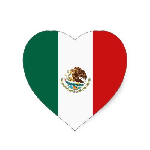 Mexico Flag Heart Sticker Zazzle Com Mexico Flag Mexico Wallpaper Heart Stickers