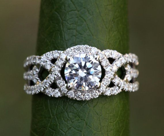 TWIST OF FATE 14k White gold Diamond by BeautifulPetra on Etsy, $4,500.00 http://www.bloomingbeautyring.com