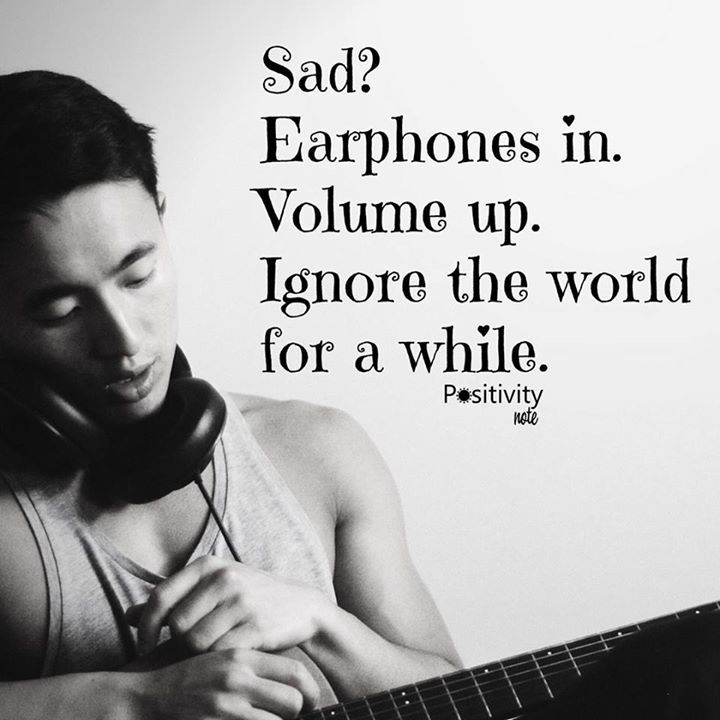 Sad Earphones In Volume Up Ignore The World For A While