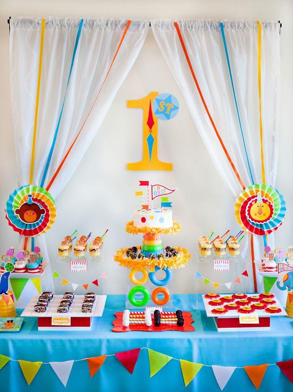 Bright & Colorful Big Top Birthday {Circus Animals #boybirthdayparties