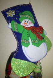 Molde Bota muñeco de nieve
