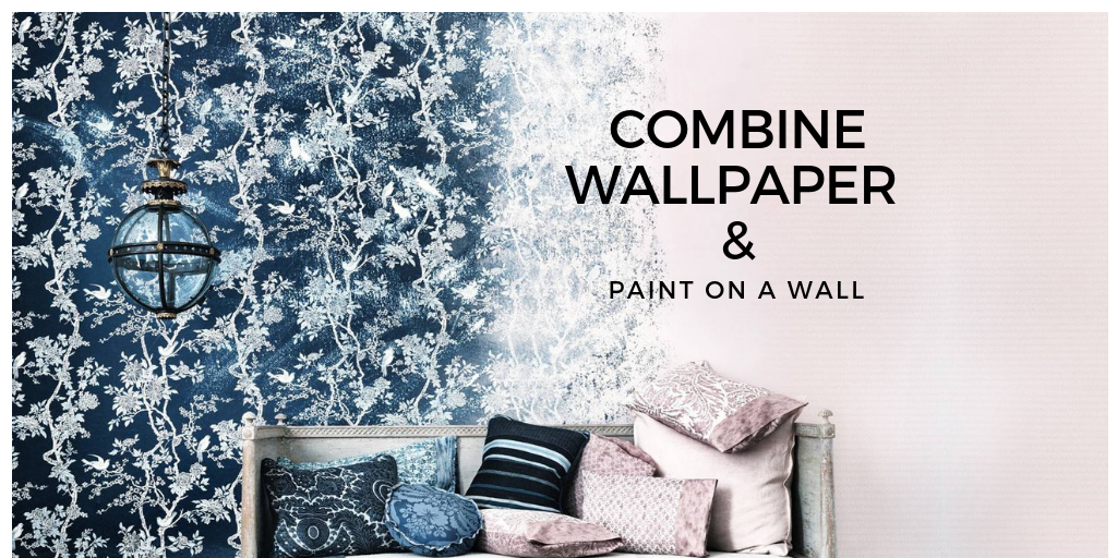 Pro Decor Tips To Combine Wallpaper And Painted Wall Wall Paint Combination Painting Wallpaper Paint Combinations