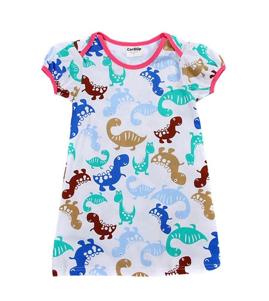 Longra Girls Soft Summer Cotton Short Sleeve Dresses Romper Clothes Outfits Easter Kids Baby Girls Outfits Clothes Shorts Sleeve Bunny Princess Party Dress