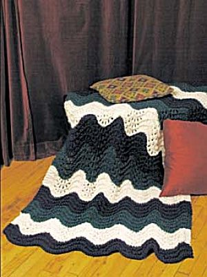 Knit Preppy And Vineyard Ripple Knit Afghan Great Easy Pattern