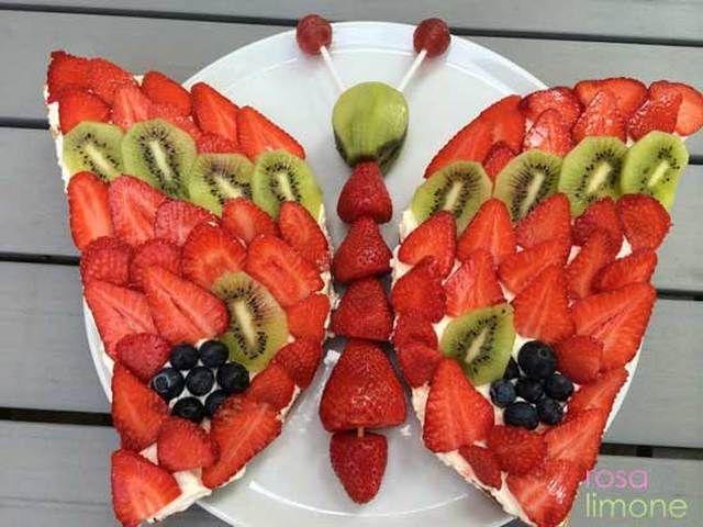 Kindergeburtstags Schmetterlingskuchen Kindergeburtstag