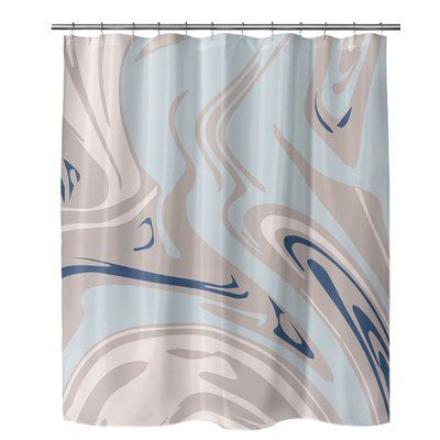 Brayden Studio Fowler Single Shower Curtain Gray Shower Curtains