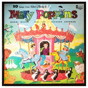 Eclectic Game Room Wall Art And Signs By Mmm Designs Songs From Mary Poppins Disney Records Vintage Disney