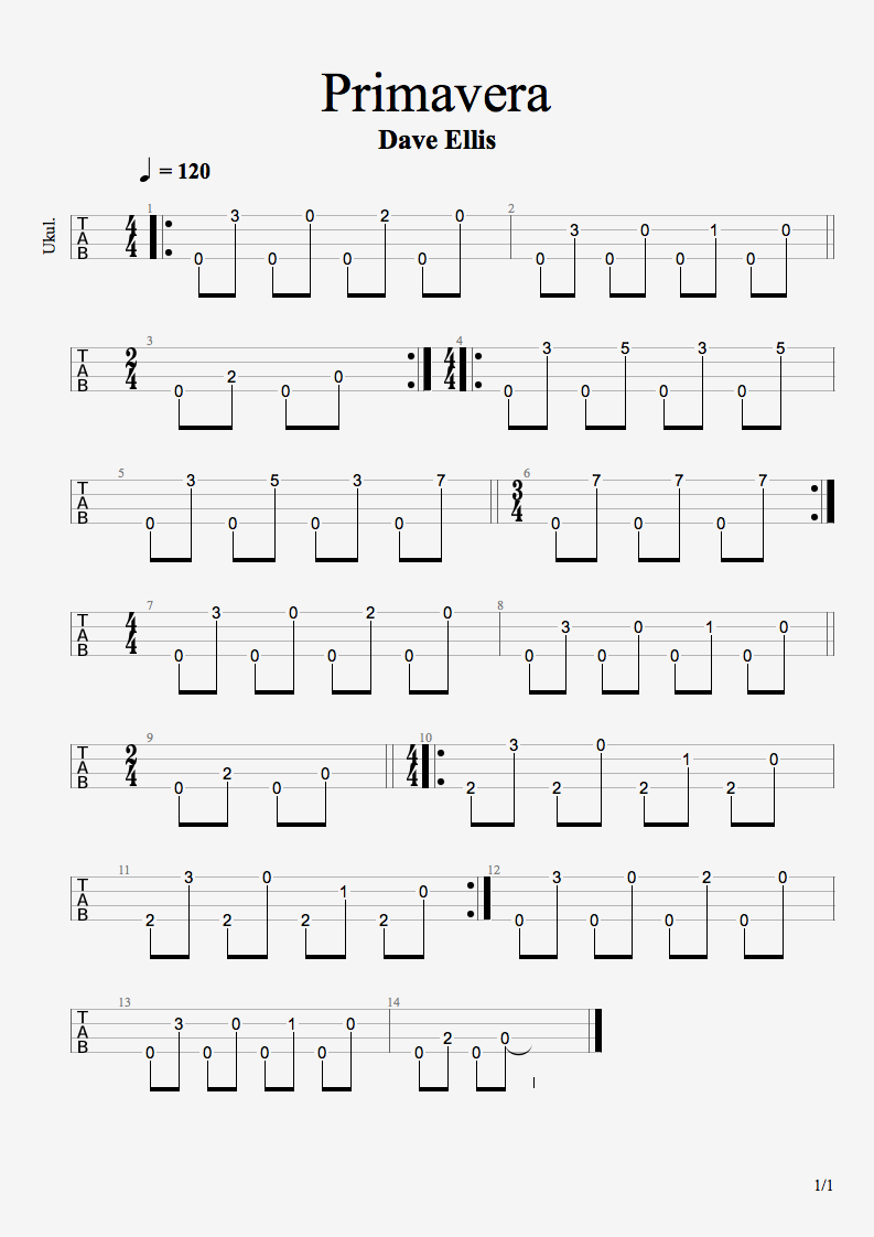 Primavera original ukulele fingerpicked song tab sheets primavera original ukulele fingerpicked song tab hexwebz Image collections