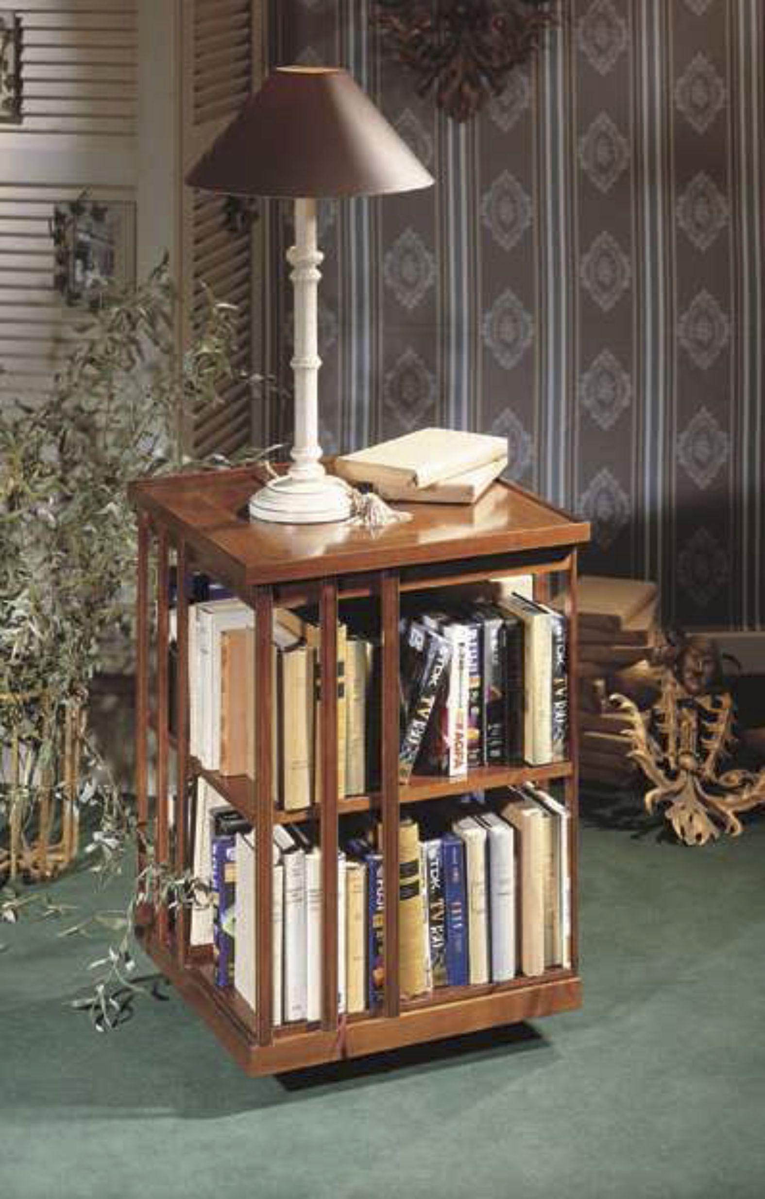 biblioth que tournante petit mod le en bois massif avec. Black Bedroom Furniture Sets. Home Design Ideas