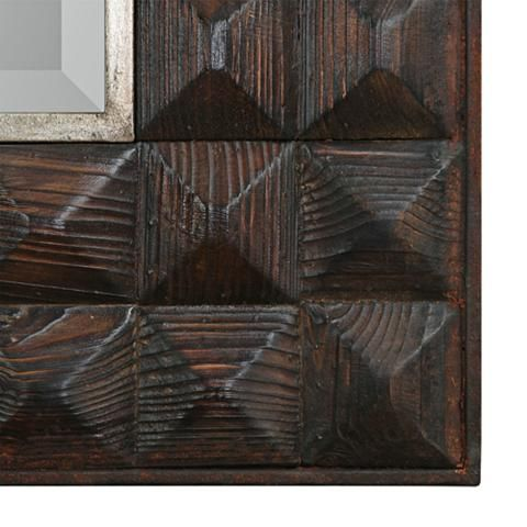 Aperia burnt walnut stain 44 x 75 oversized wall mirror 35k43