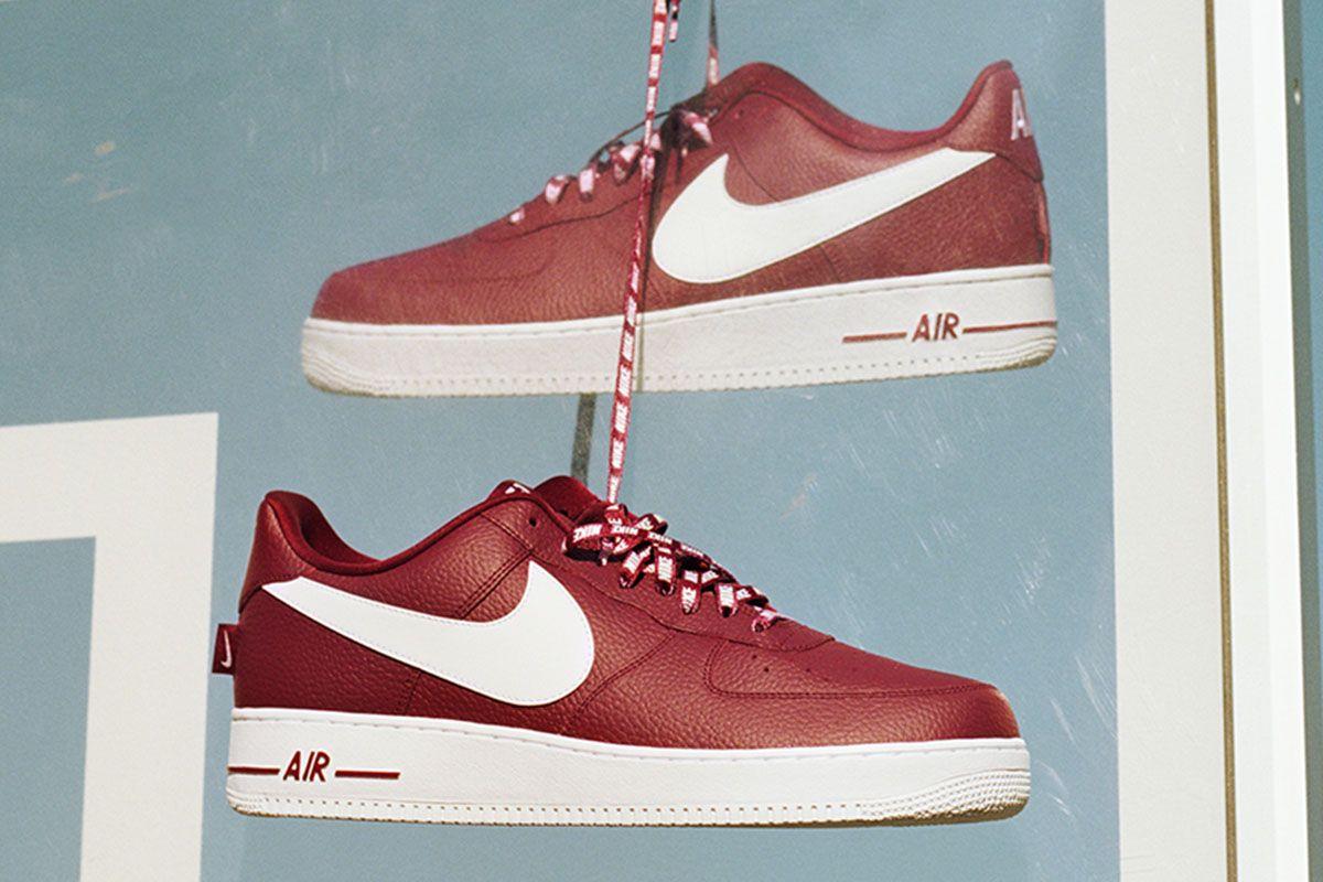 "Nike Air Force 1 Low NBA ""Team Red/White"" | Street Sneakers ..."