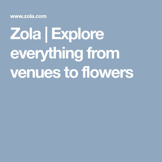 Explore Everything From Venues To Flowers
