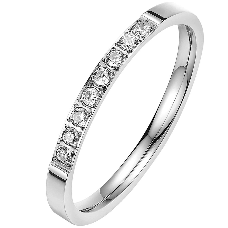 BOHG Jewelry Womens Silver Plated Cubic Zirconia CZ
