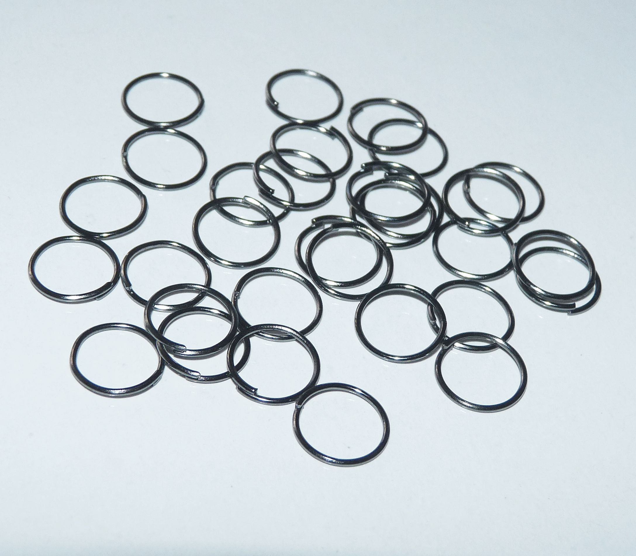 100pcs 6mm Antique bronze closed soldered jump rings jewellery findings
