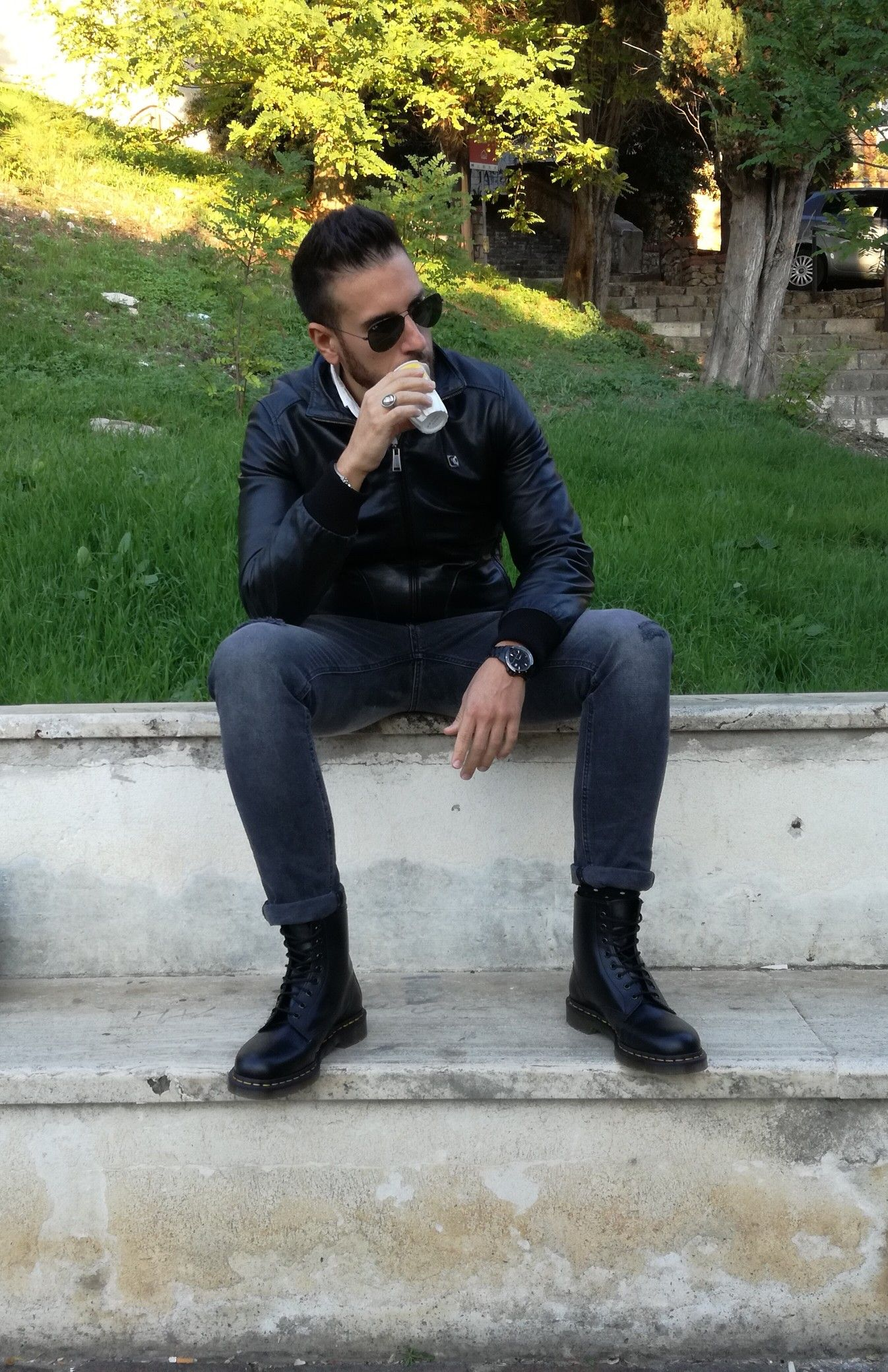 dr martens basse uomo outfit