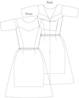 Digital Sewing Pattern For Sheer Illusion Neckline Dress With Elbow Length Sleeves And Spaghetti Strap U Illusion Dress Illusion Neckline Dress Spaghetti Strap