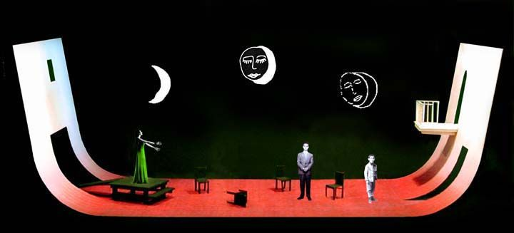 Lorca in a Green Dress. (Model) Oregon Shakespeare Festival. Set design by William Bloodgood. 2003