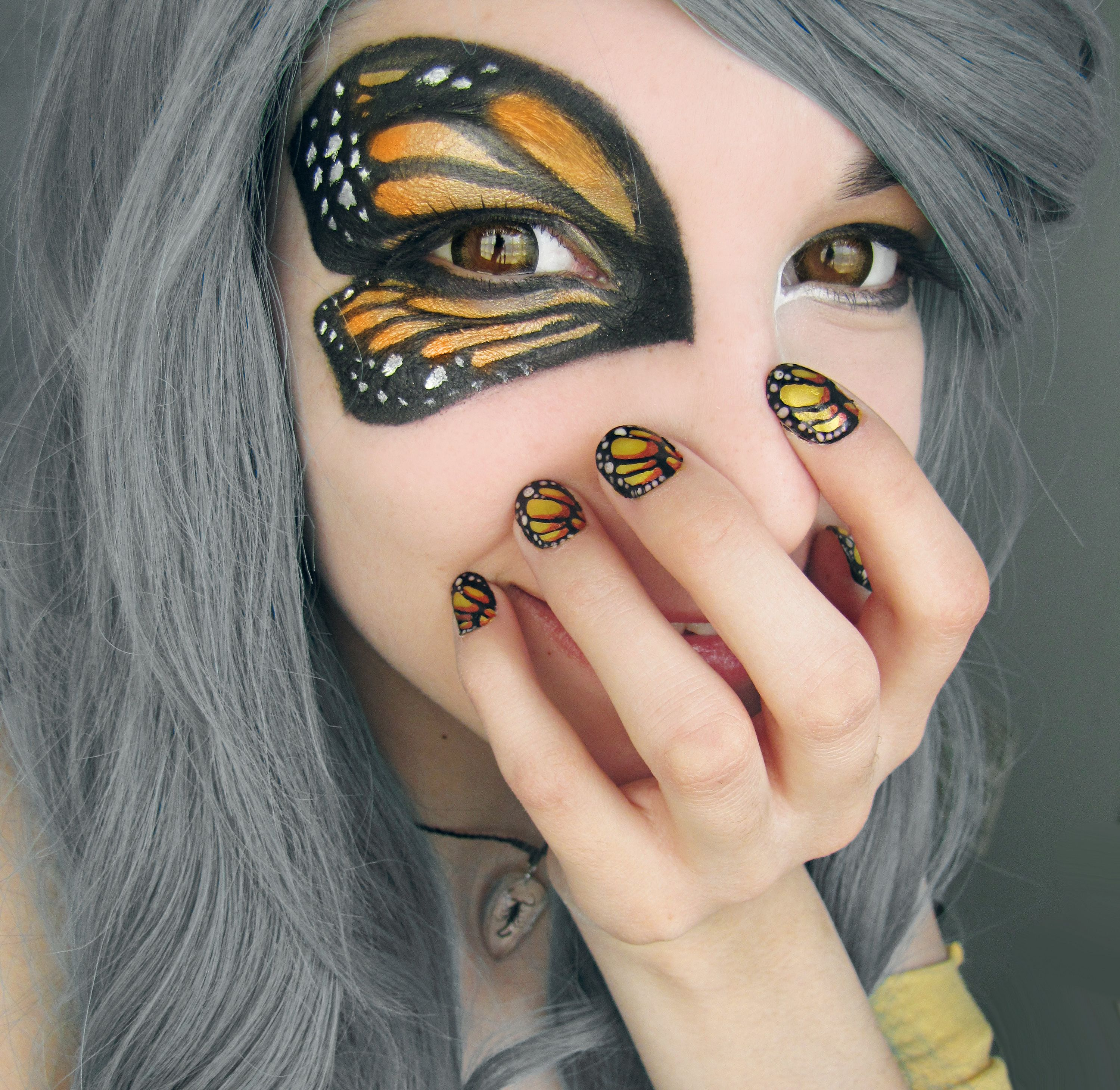 Butterfly makeup and nails. So doing this! Butterfly
