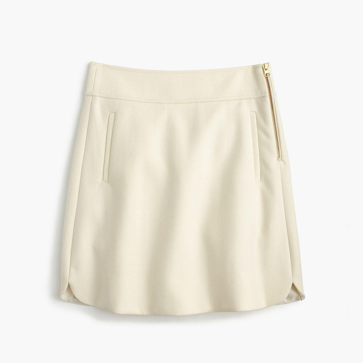 J.Crew Womens Petite Mini Skirt In Double-Serge Wool (Size 10 Petite ... 31b8d97ec