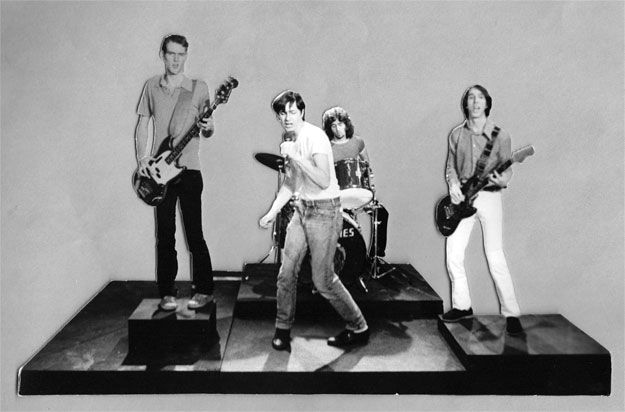 """M. Henry Jones, """"Fleshtones Performing,"""" cut out photograph for the animated film """"Soul City,"""" 1977"""
