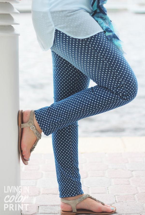 4f12b13fa429 Styling Spring Denim  Polka Dot Jeggings...I have a pair of these and I  3  them!!!