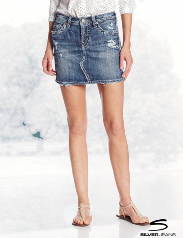 Silver Jeans Juniors Francy Mid Rise Mini Skirt