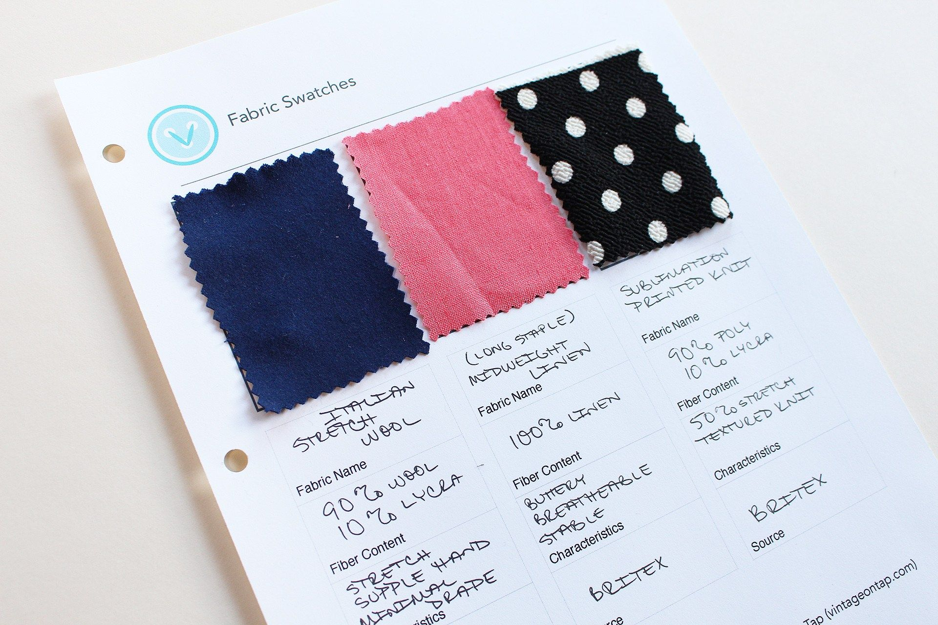 Fabric swatch book free download vintage on tap