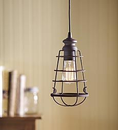 screw in pendant lighting. Screw-In Wire Cage Pendant Light - Plow \u0026 Hearth Screw In Lighting T