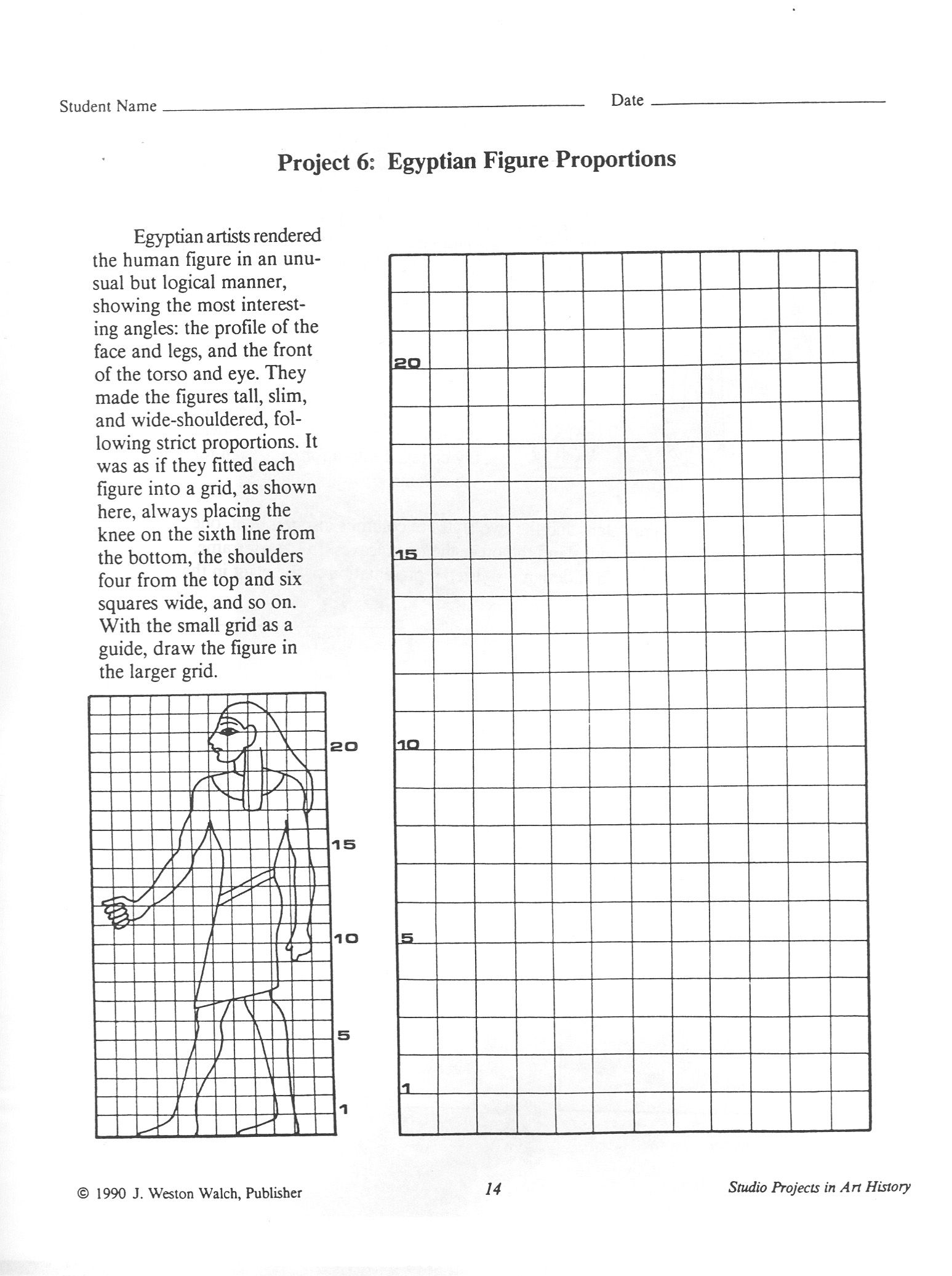 Egyptian Art Handout 5 Egyptian Figure Proportions