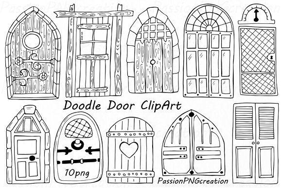 Doodle Doors Clipart How To Draw Hands Clip Art Art