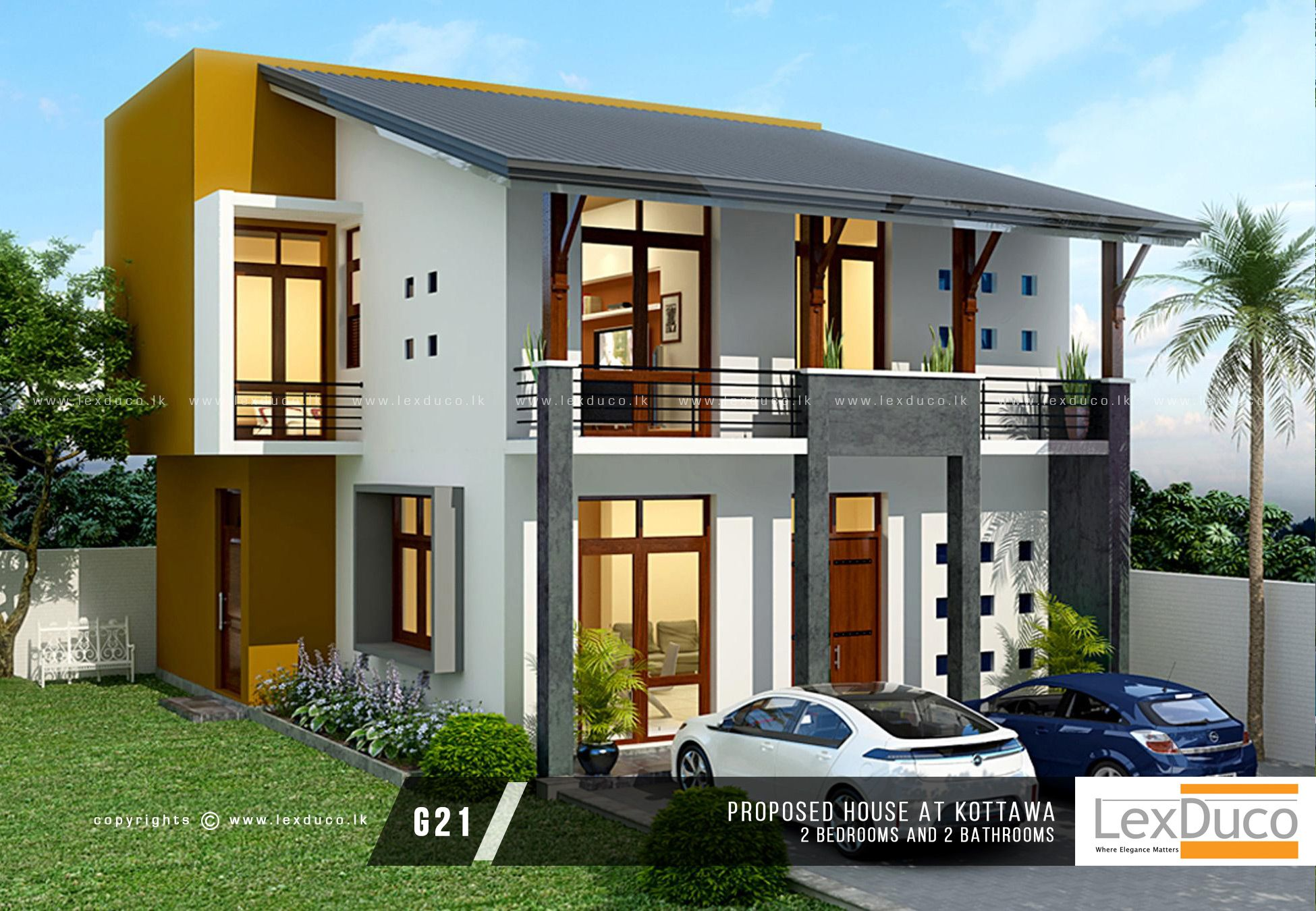Pin By Wajira Pradeep On Modern House Designs Sri Lanka Two Storey House House House Plans