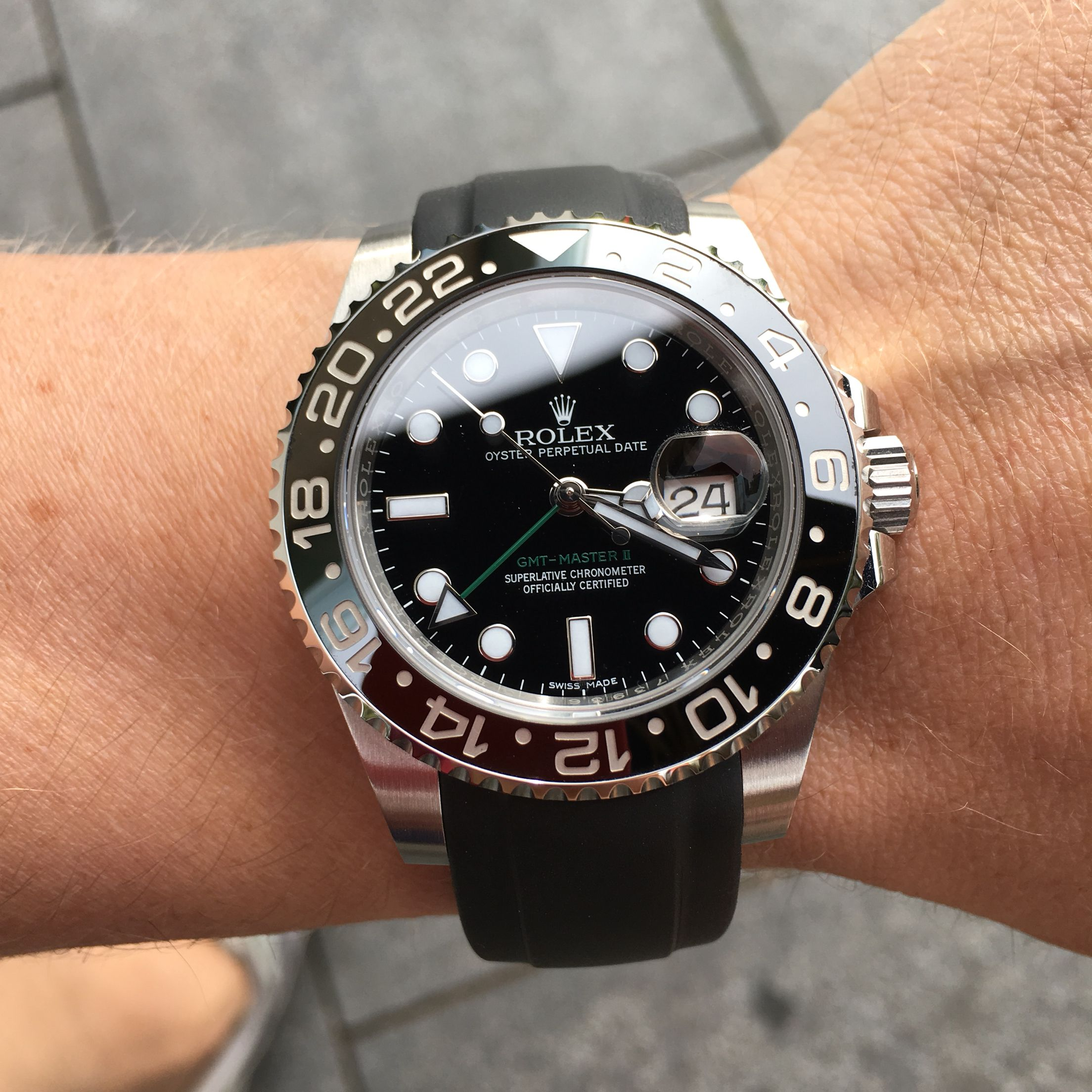 Rolex Rubber Rolex Gmt 116710ln On Everest Rubber Strap Watches Pinterest