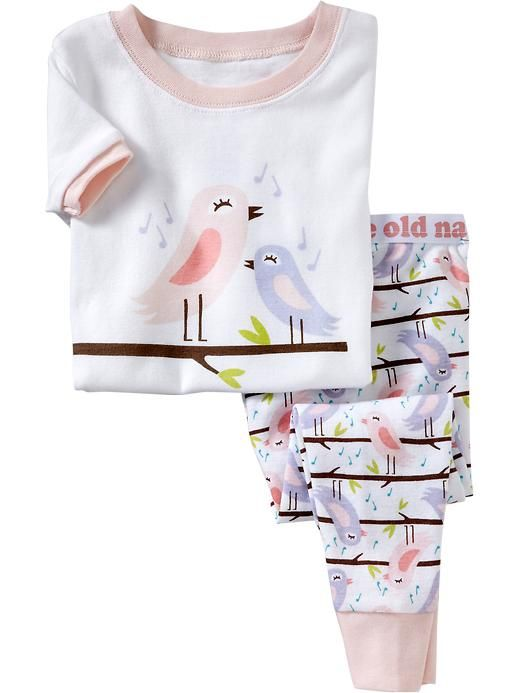 Songbirds-Graphic PJ Sets for Baby Product Image