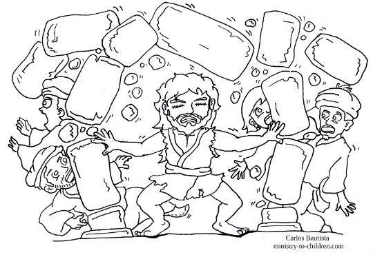 Samson Destroys Dagon S Temple Coloring Page Bible Crafts Bible Coloring Pages Preschool Bible