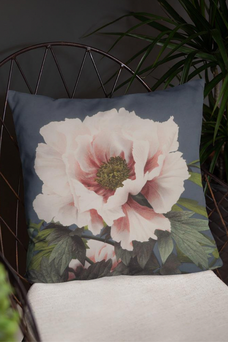 Ogawa Kazumasa 1860 1929 Was A Meiji Era Photographer Printer And Publisher Who Was A Pioneer In The Field Of P Throw Pillows Floral Accent Pillow Pillows