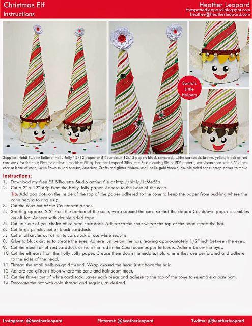 Heather Leopard: Christmas Elves - Free Cutting File - Project Tutorial  #americancrafts #heidiswapp #christmas #elfontheshelf