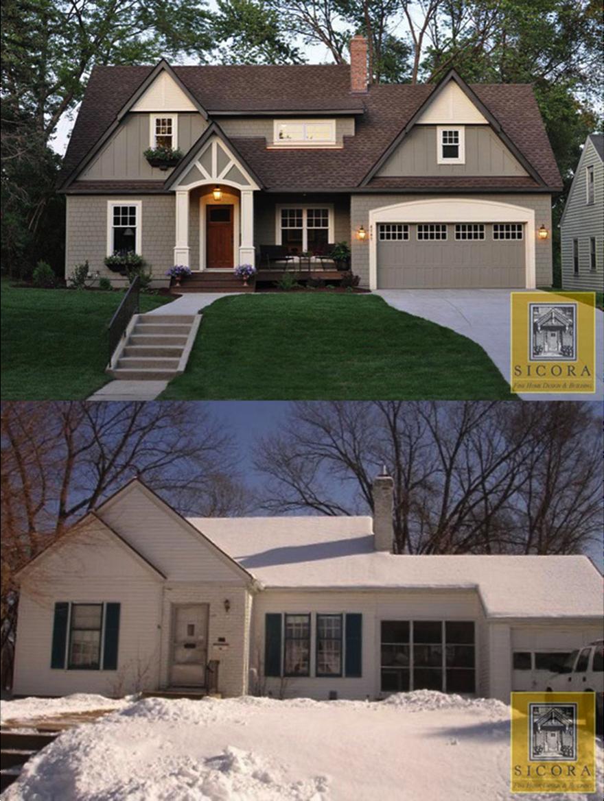 Before and after cottage makeover stevens house pinterest