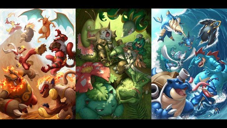 Best Pokemon Fire Grass And Water Type Wallpaper Pokemon 640 x 480