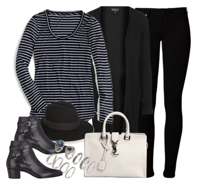 """""""Style #9878"""" by vany-alvarado ❤ liked on Polyvore featuring Vero Moda, Topshop, J.Crew, Yves Saint Laurent and Forever 21"""