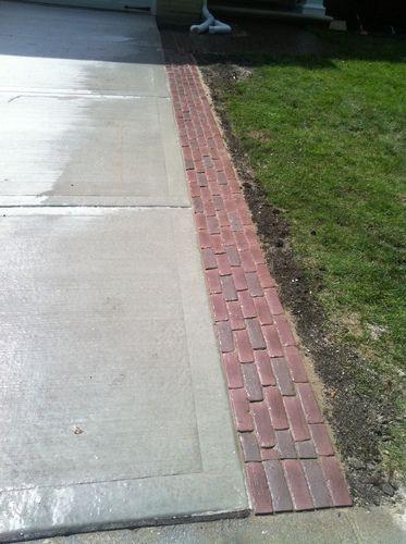 Red Brick Border Around Concrete Patio   Google Search