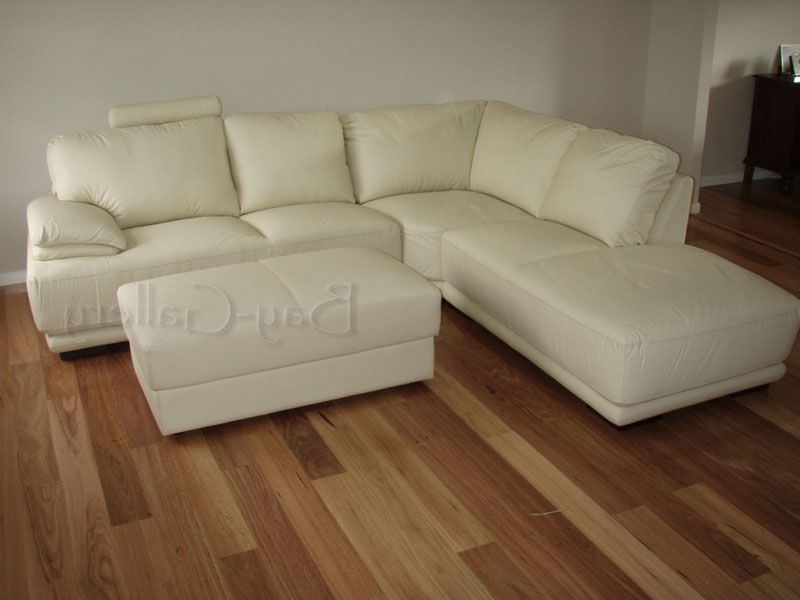 Retro Cream Modular Corner Chaise Leather Lounge Suite Sofa Couch Furniture : chaise lounge suites - Sectionals, Sofas & Couches