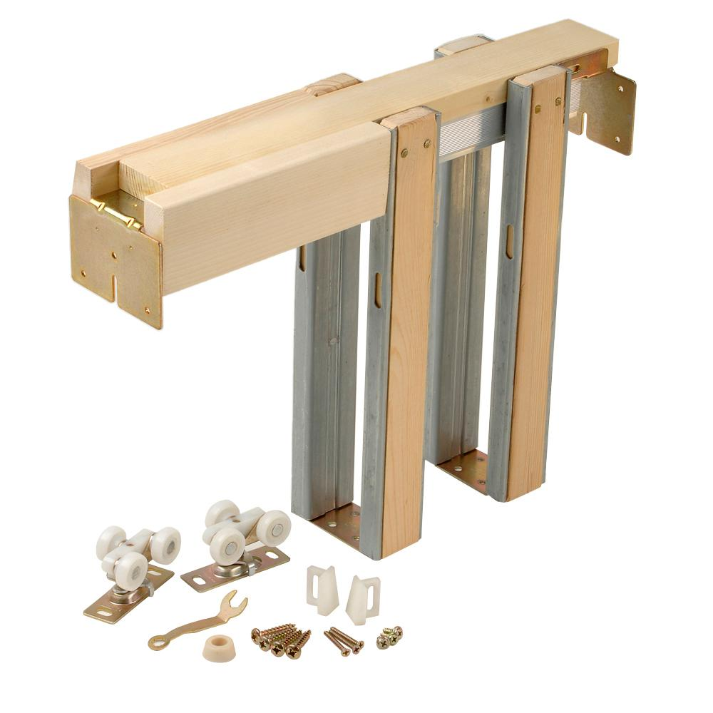 Johnson Hardware 1500 Series 24 In To 36 In X 80 In Universal Pocket Door Frame For 2x4 Stud Wall 153068pf With Images Pocket Door Frame Sliding Pocket Doors Pocket Door Hardware