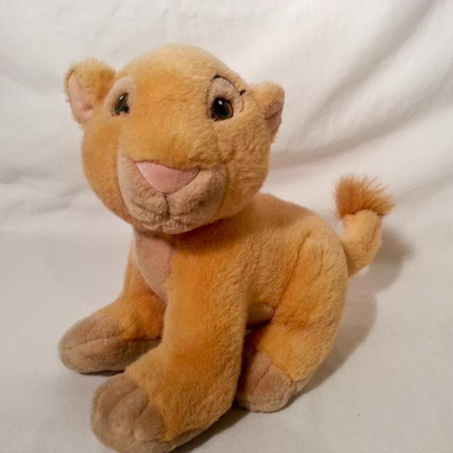 Disney Store Plush SIMBA Cub The LION KING Crouching Stuffed Animal Hard to Find by coveteur on Etsy