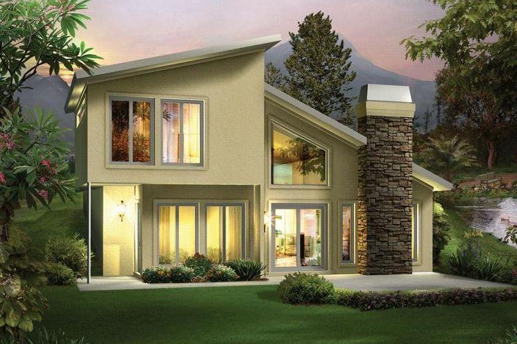 Modelos de casas de dos pisos sencillas Planos de casas