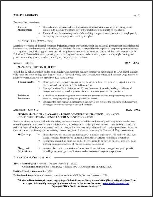 sample cfo resume 2 CFO Pinterest Sample resume