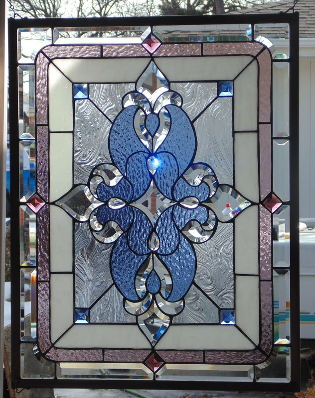 Stained Glass Window Hanging 30 X 23 1/4\